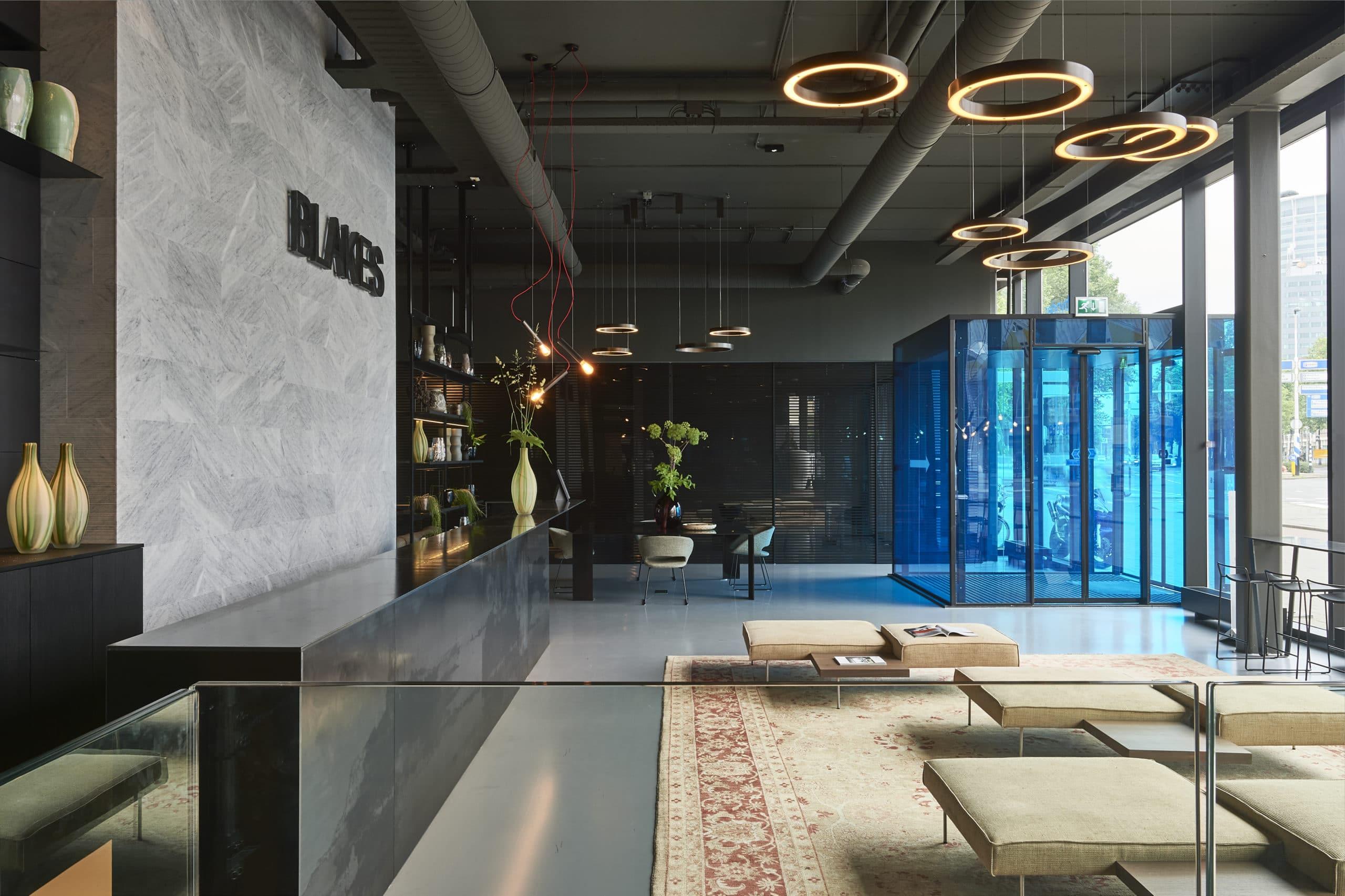 Dis Studio designed reception area Blakes Lounge Rotterdam