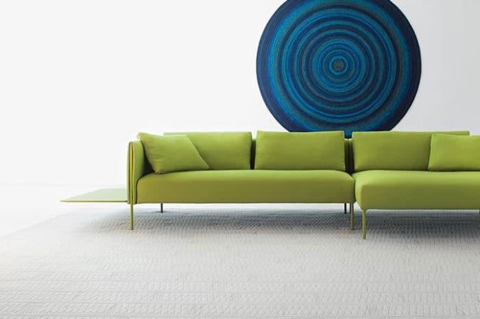paola lenti green sofa