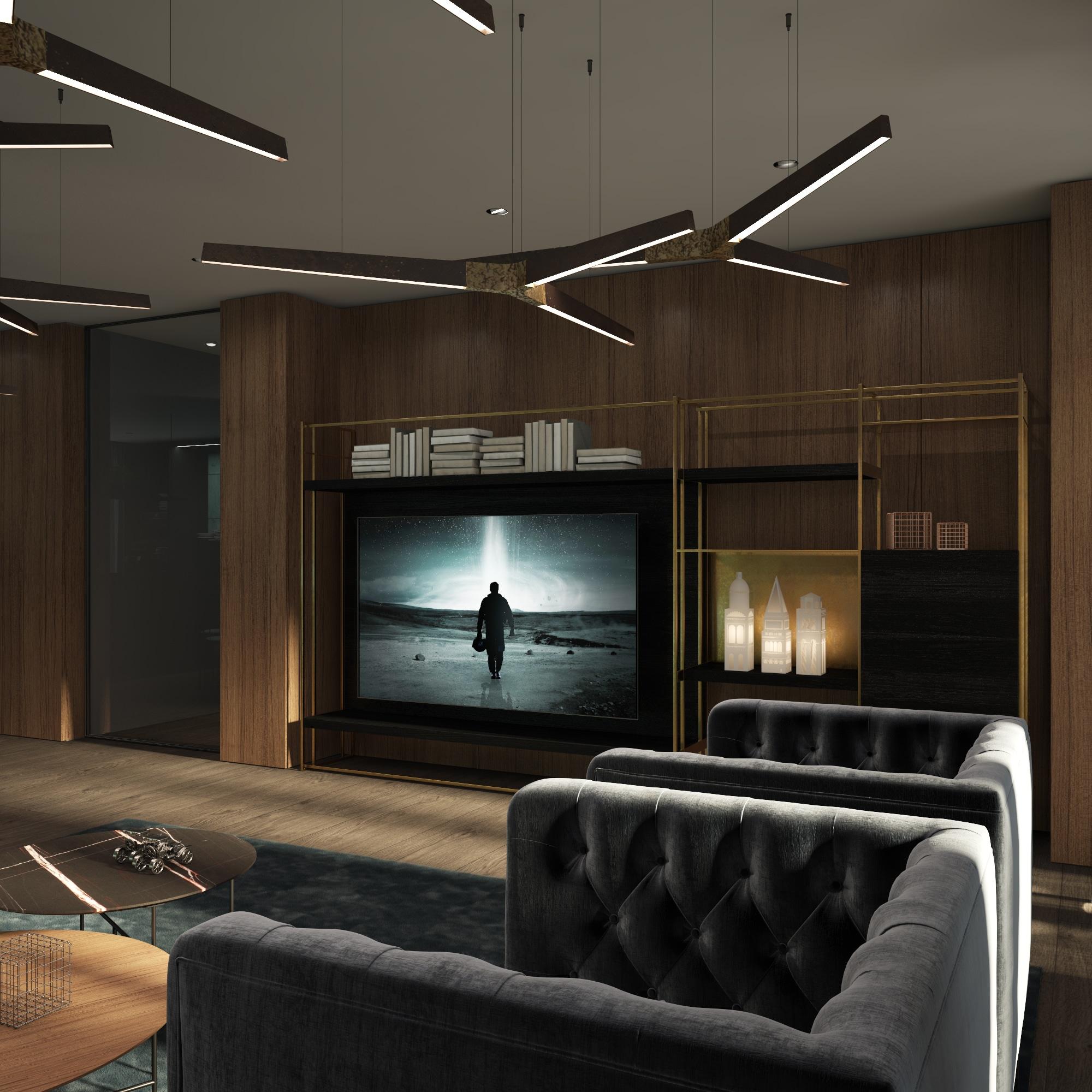Dis Studio Lounge room wall textures