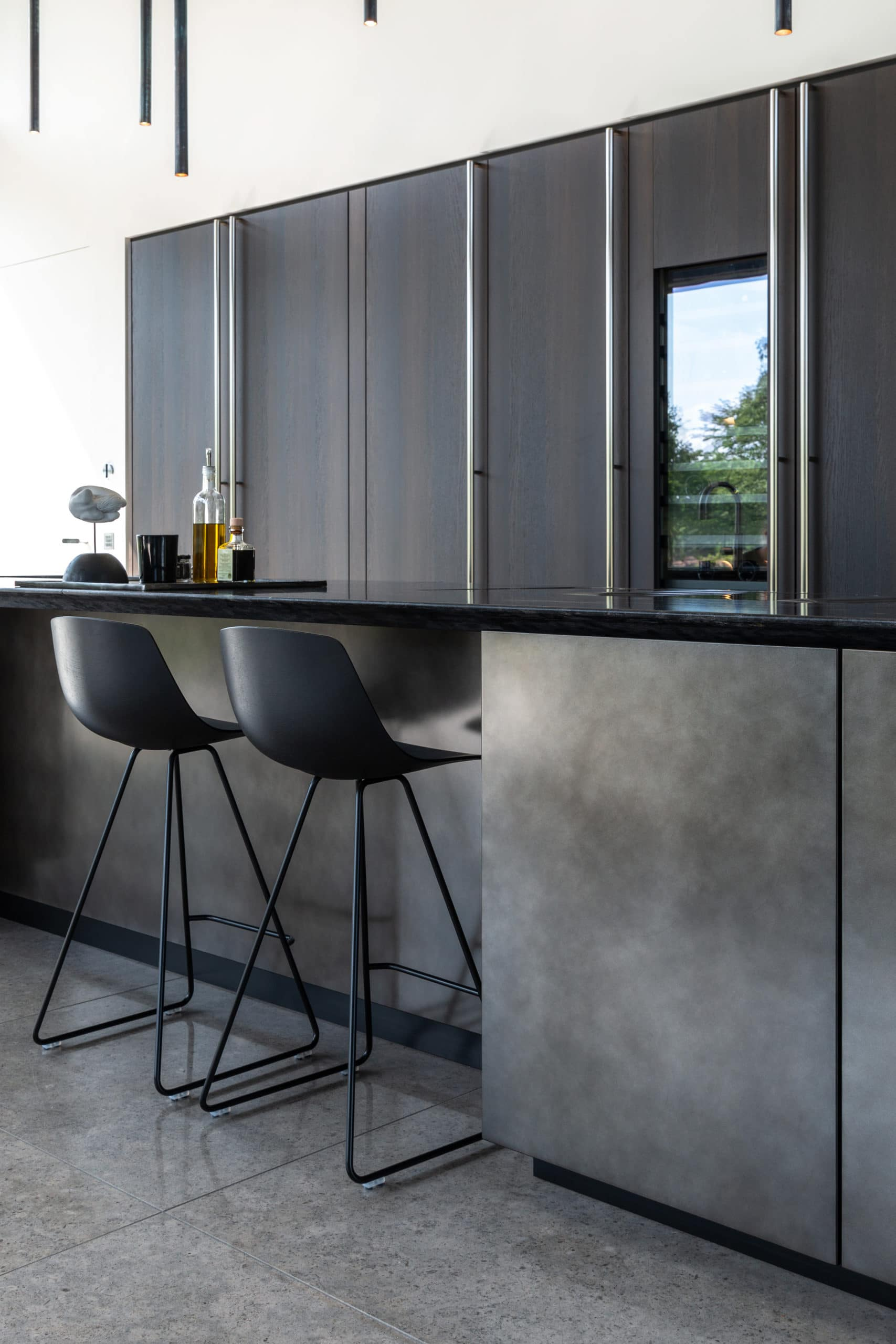 Boffi Kitchen with stools
