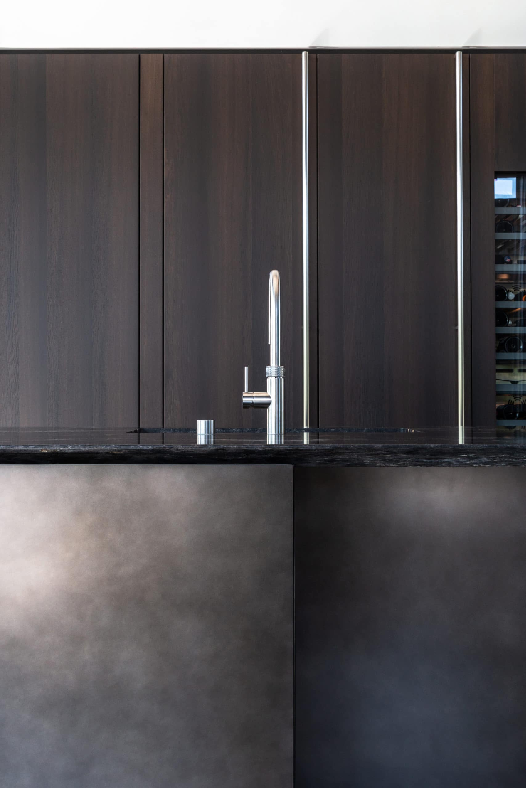 boffi kitchen tap and sink view