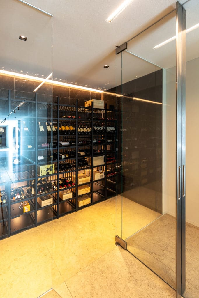 Wine Rack and Glass Doors