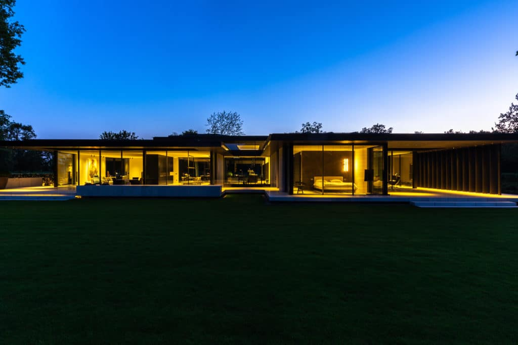 Designer Villa at Night