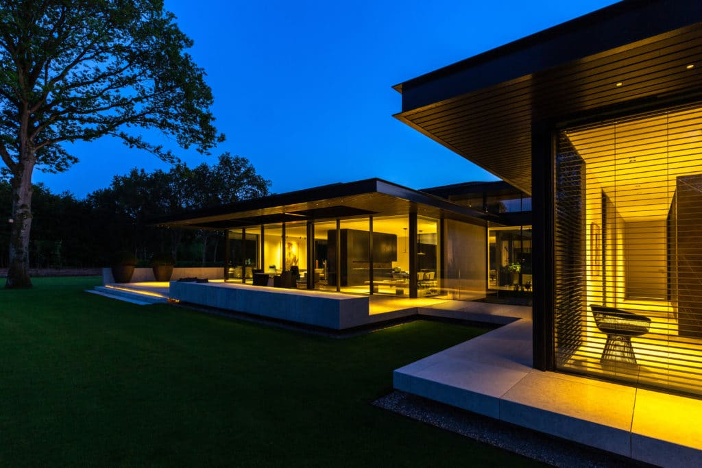 Villa at Night with terrace